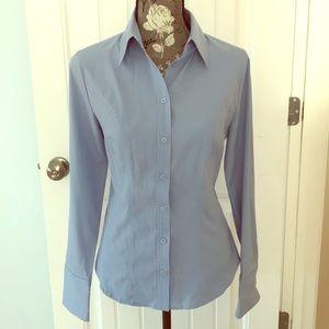 Express Stretch Blue Button Down dress shirt 10